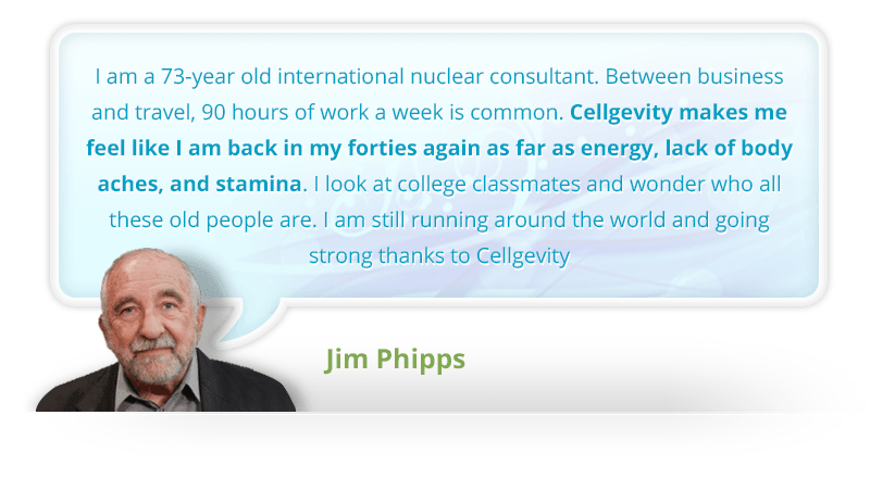 Jim Phipps Max cellgevity testimonial