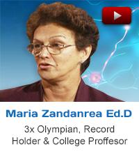 testimonial Maria Zandanrea Olympian Record holder